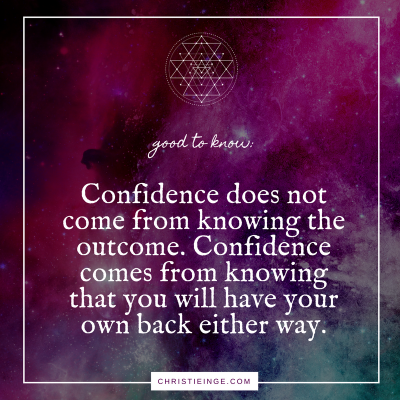 how to feel confident even when things aren't going well