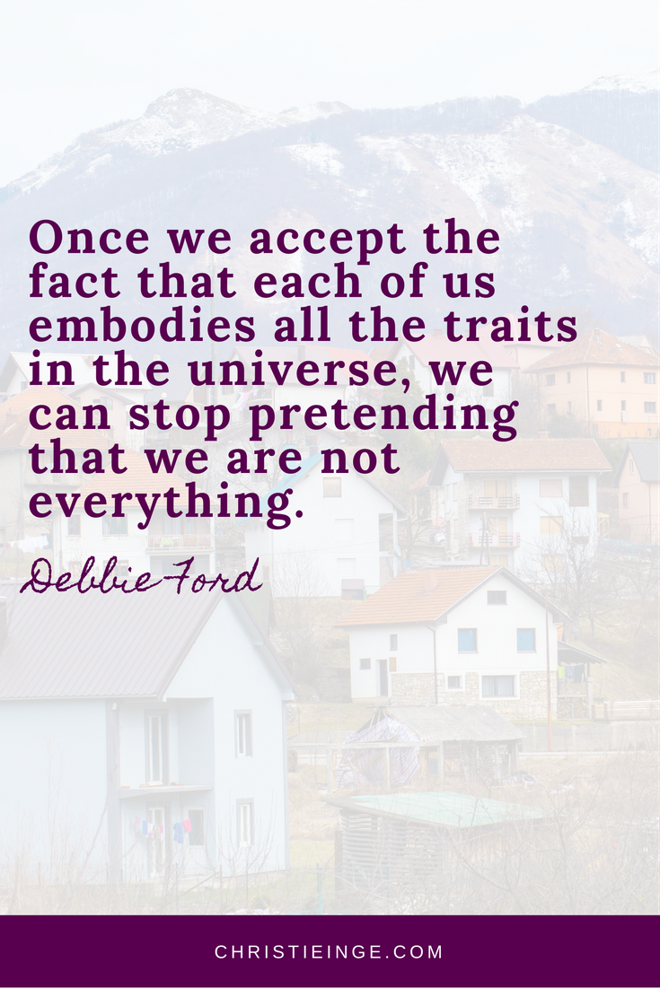 Debbie Ford Quote | Self Acceptance | Being Judgmental
