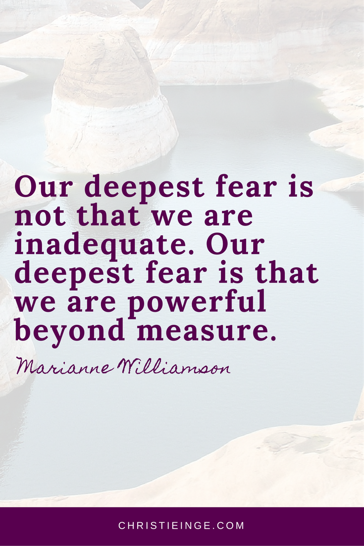 Marianne Williamson Quotes | Our deepest fear is not that we are inadequate. Our deepest fear is that we are powerful beyond measure.