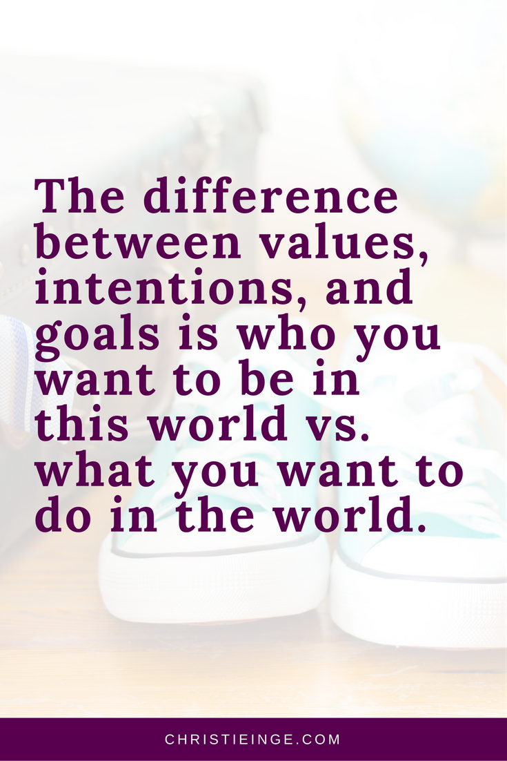 values quote \ personal values \ intentional living \ setting intentions \ goal setting