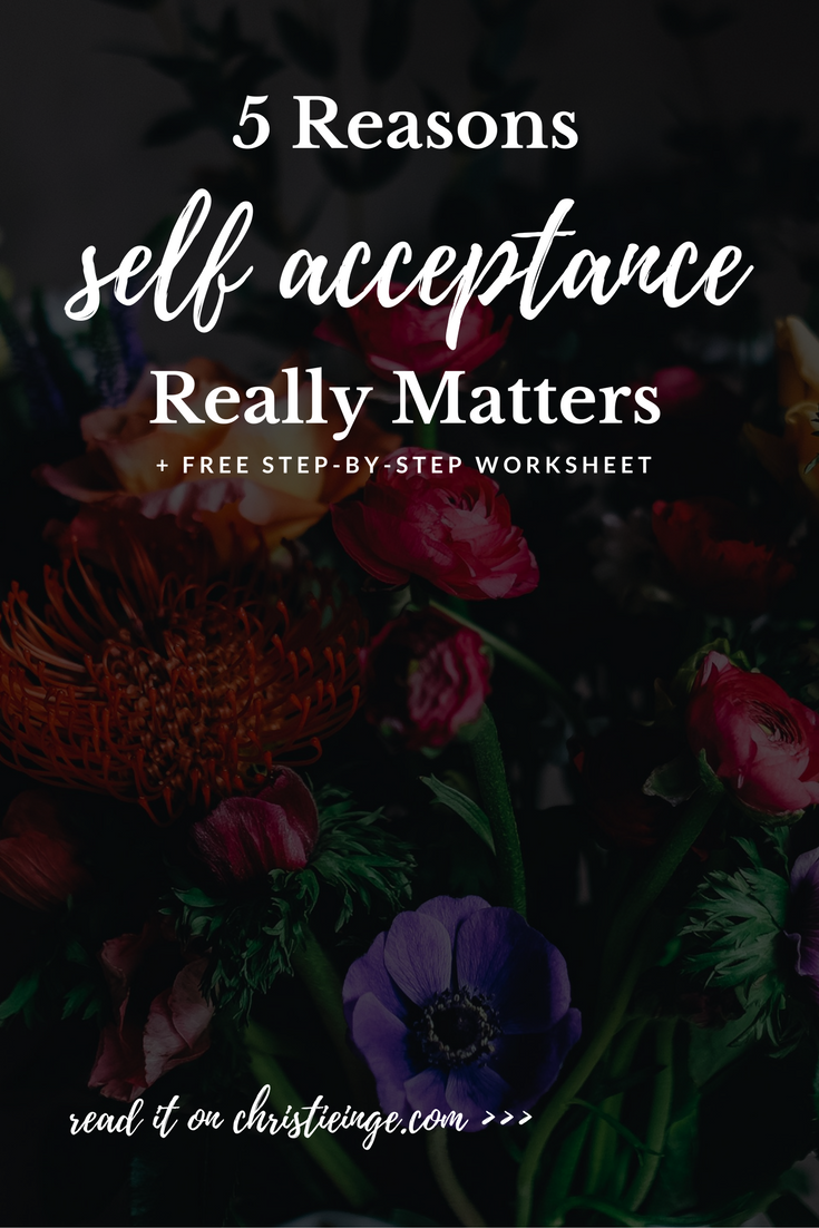 self acceptance | spiritual wholeness | self love | personal growth | accept your flaws