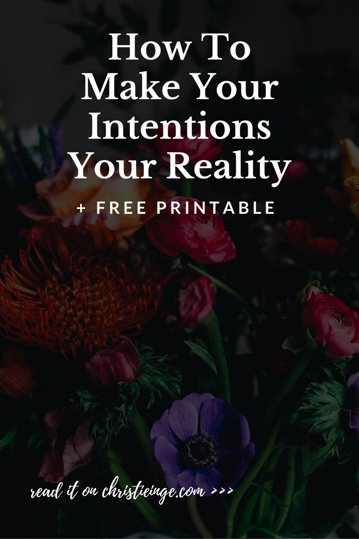 intentional living | intention setting | goal setting | power of intentions | life goals