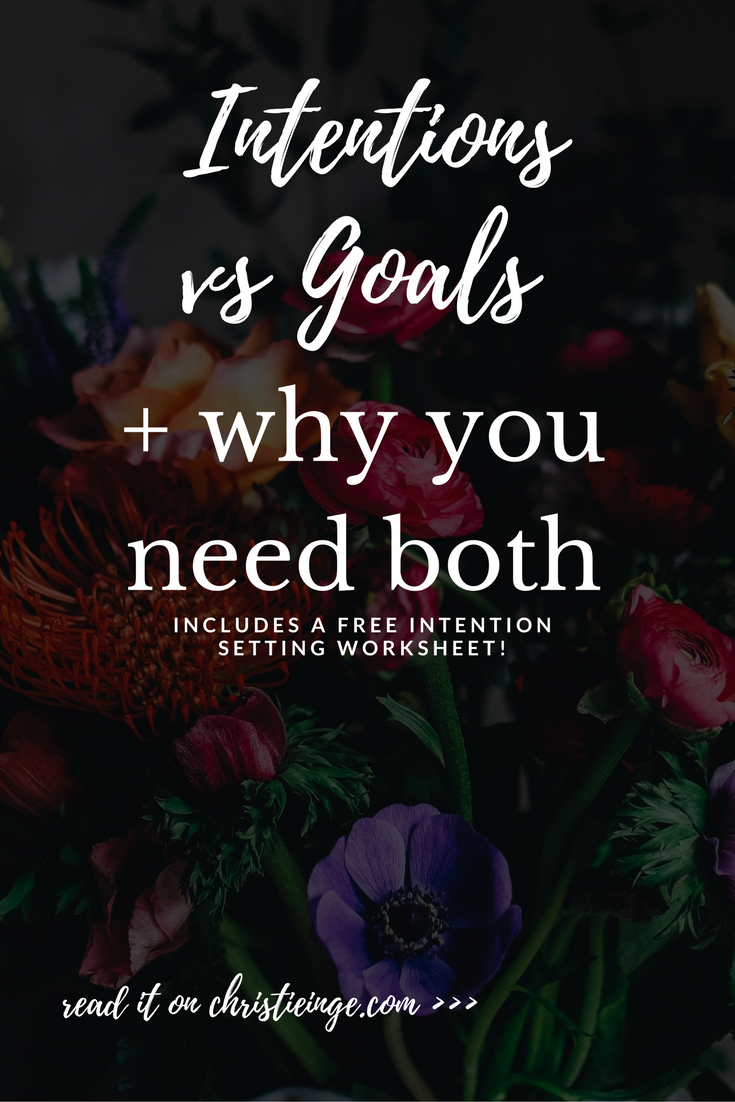 intentional living   setting intentions   goal setting   intention setting worksheet   new year goals