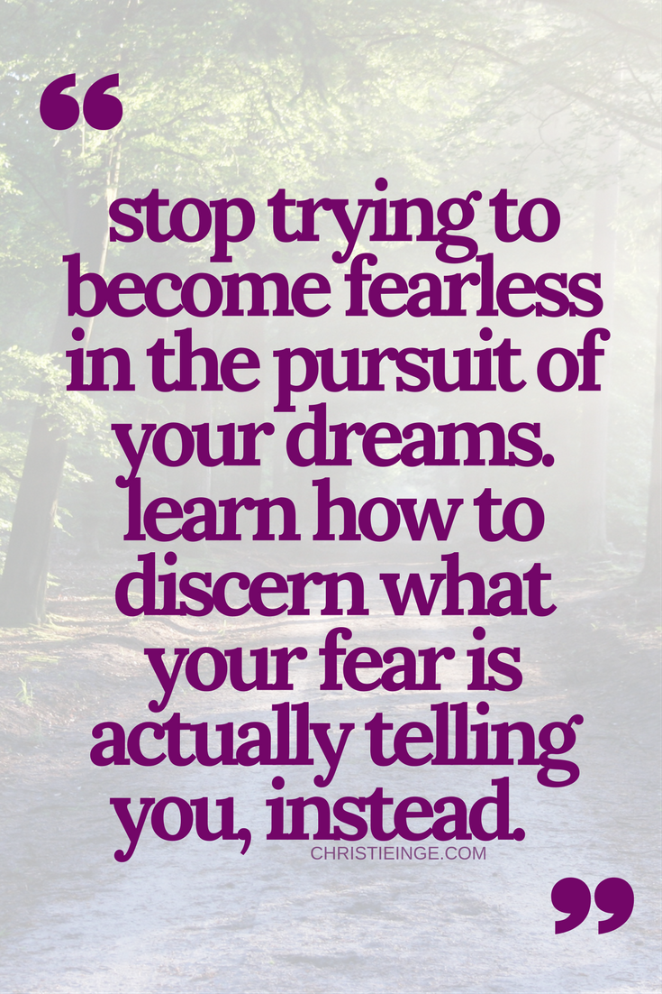 fearless | overcoming fear | courage to change | being brave | self doubt truths